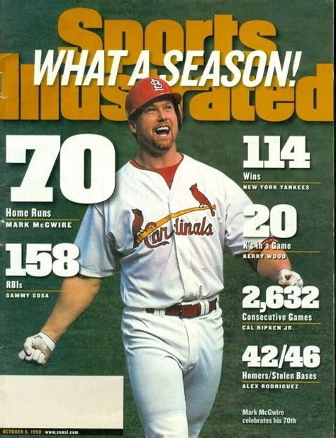 Beyonces Card Si Cover by 1998 Sports Illustrated Mcgwire Cardinals What A