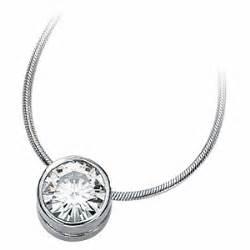 Black Moissanite 1 5 Ct 1 5 ct moissanite bezel necklace jj62087 15014kw