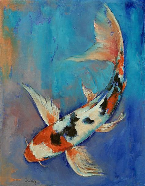 koi fish watercolor paintings sanke butterfly koi painting by michael creese