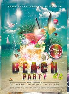 Beach Flyer Template Free 17 Amazing Psd Beach Party Flyer Templates Amp Designs