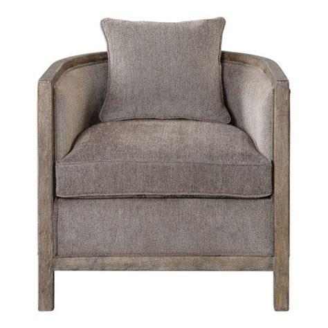 viaggio gray chenille accent chair uttermost arm chairs