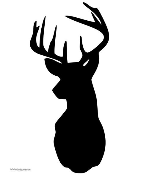 free printable reindeer head 17 best images about silhouette cameo on pinterest