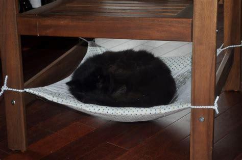 How To Build A Cat Hammock diy cat chair hammock petdiys