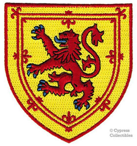 scotland iron on patch coat of arms emblem lion rampant