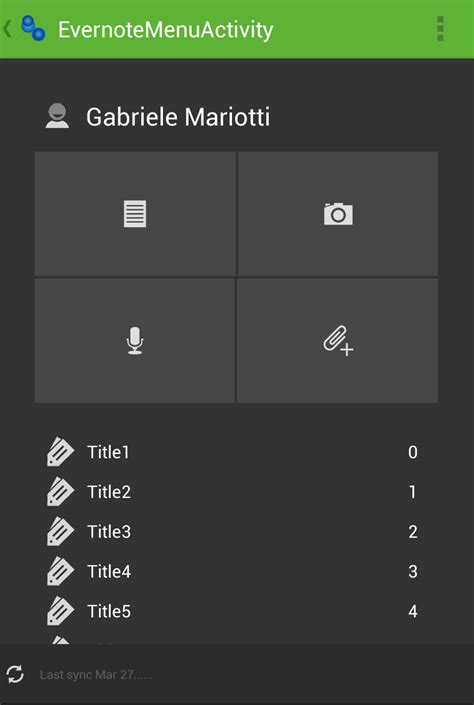 android layout weight in scrollview gui like evernote menu