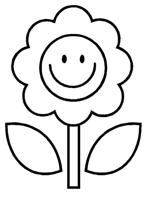 Smiley Face Flower Clipartion Com Clipart Coloring Pages Smiley