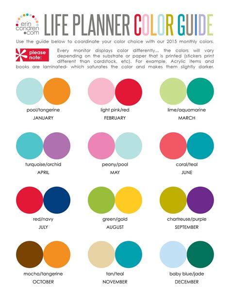 cool 2 color combinations erin condren design get stylized organized