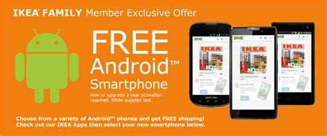Free Cell Phone Giveaway - ikea begins offering select android phones for free techfaster