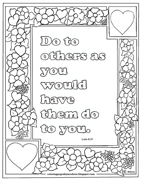 Luke 6 Coloring Pages bible coloring pages with luke 6 31 bible best free