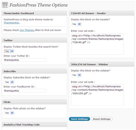 Theme Junkie Features Content | free wordpress theme fashionpress theme junkie