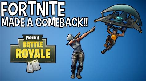 fortnite who made it fortnite made a comeback