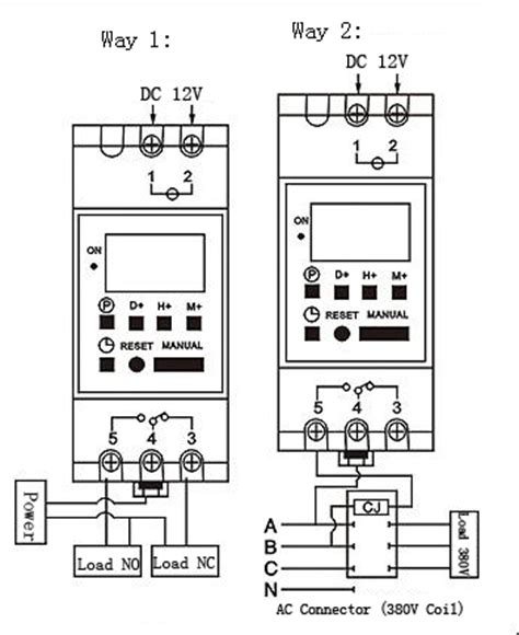 din rail timer wiring diagram programmable timer switch
