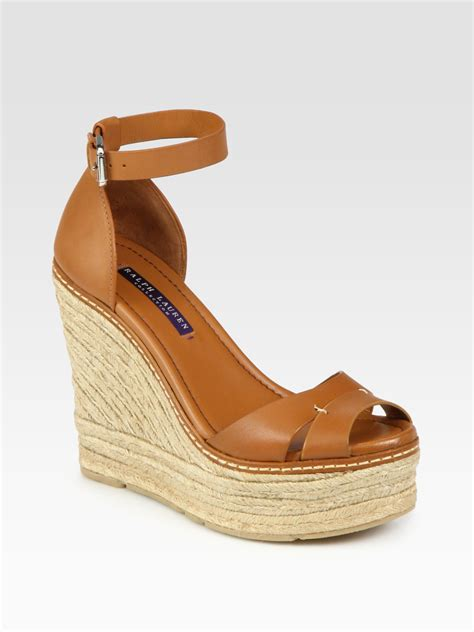 ralph wedge sandals ralph collection firama leather espadrille wedge