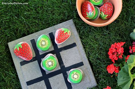 painted rock tic tac toe fun family crafts