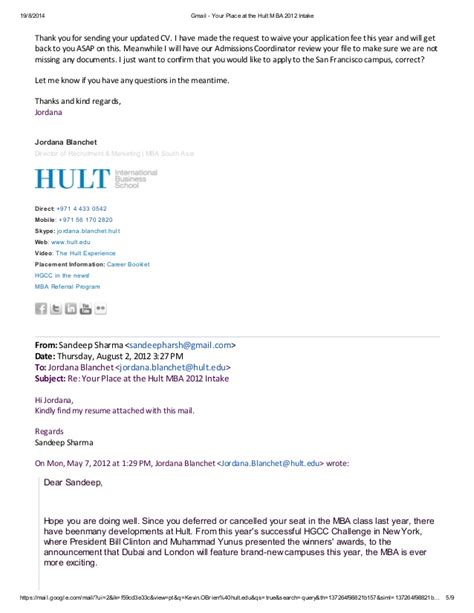 Hult Executive Mba Fees by Gmail Your Place At The Hult Mba 2012 Intake