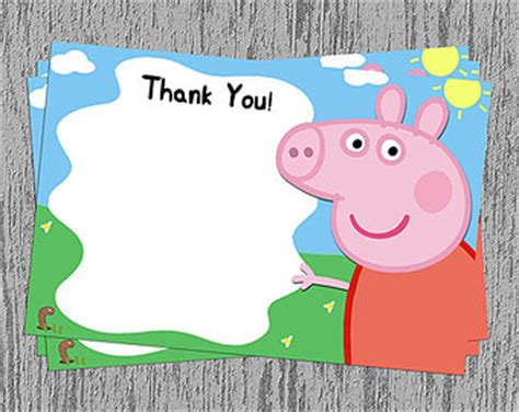 Peppa Pig Thank You Card Template by Peppa Pig Vector Clipart Best