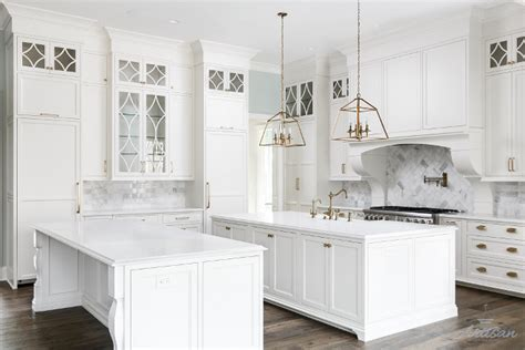 good Farmhouse Interior Design Ideas #3: Double-Islands-White-Kitchen-Double-Island-Double-White-Islands-Kitchen-Islands.jpg