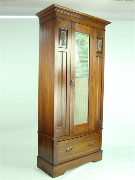 slim armoire tall slim antique edwardian wardrobe 241158