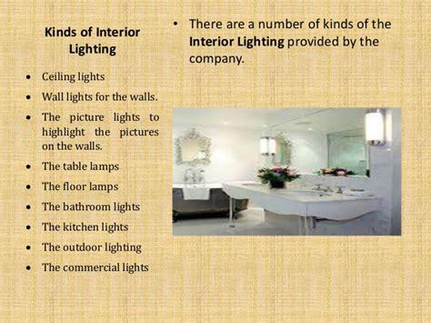 interior lighting   types