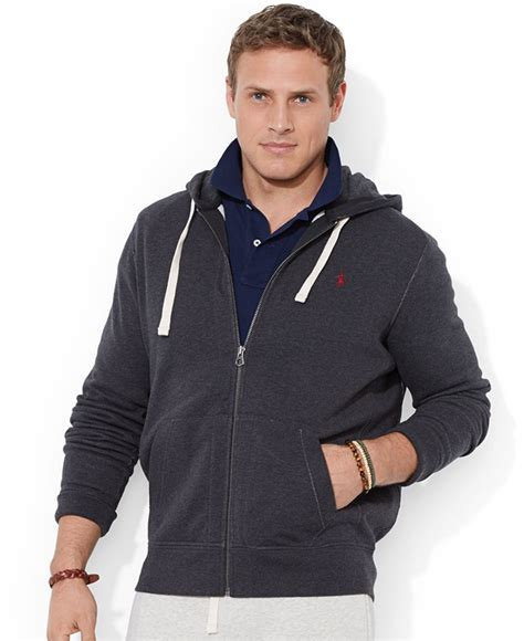Vest Hoodie Zipper Polos Abu K21 polo ralph big and classic fleece zip hoodie in black for onyx lyst