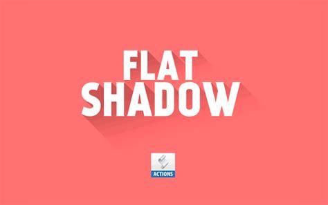 flat design effect photoshop daily freebie mockup flat shadow photoshop action