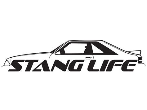 mustang stickers and decals stang fox hatch sticker stang inc
