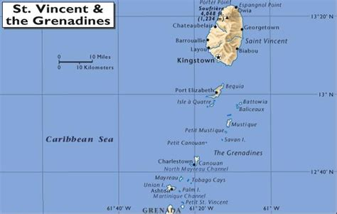 st vincent grenadines map map of st vincent and the grenadines pictures to pin on
