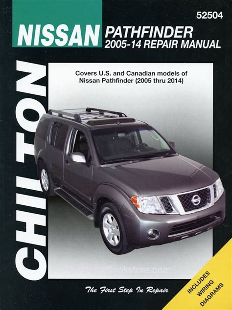 free online car repair manuals download 2005 nissan murano electronic toll collection nissan pathfinder repair manual 2005 2014 chilton 52504