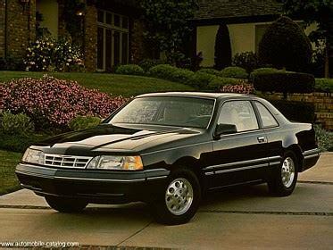 how cars engines work 1987 ford thunderbird electronic valve timing 1987 ford usa thunderbird lx full range specs