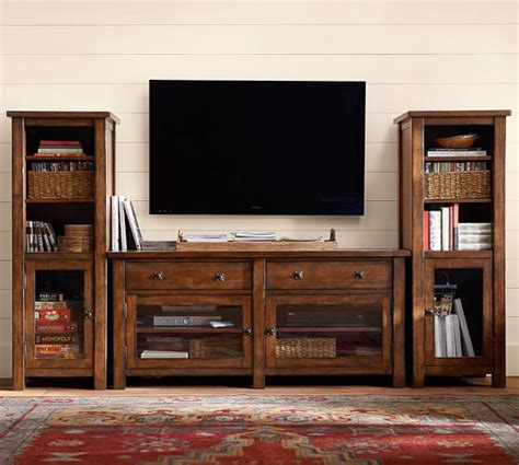 pottery barn tv cabinet benchwright tv stand small pottery barn