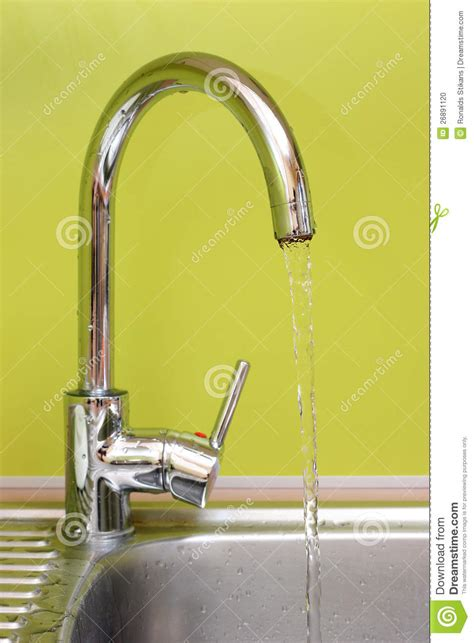 Water Faucet Running by Faucet With Running Water Stock Photo Image 26891120
