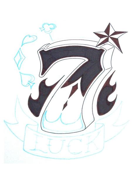 lucky seven tattoo lucky 7 designs www pixshark images