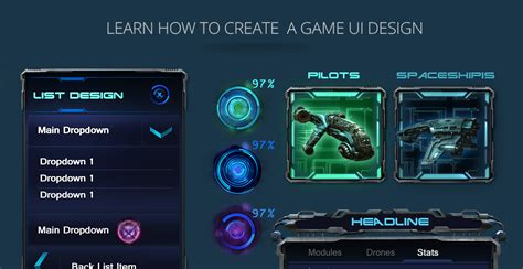 design game tutorial game ui design tutorial 的圖片搜尋結果 sci fi pinterest ui