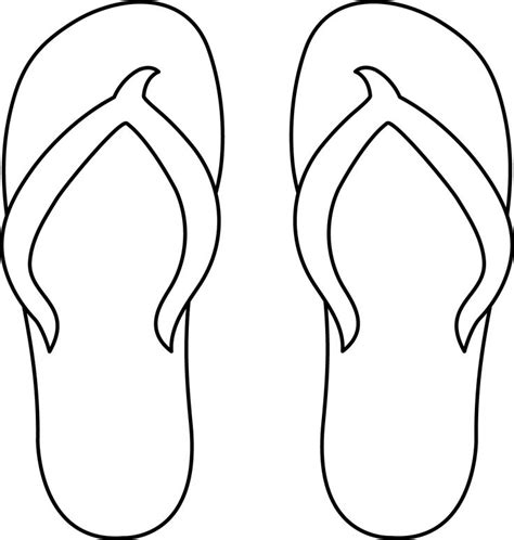flip flop template colorable flip flops cards prinable