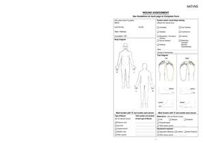 wound assessment chart template best photos of anatomical human template printable