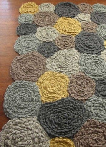 crochet wool rug wool crochet flower rug crochet