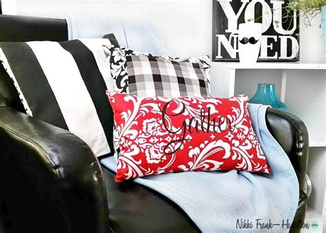 How To Make Pillows Without A Sewing Machine by Diy Graphic Pillow With Or Without A Sewing Machine