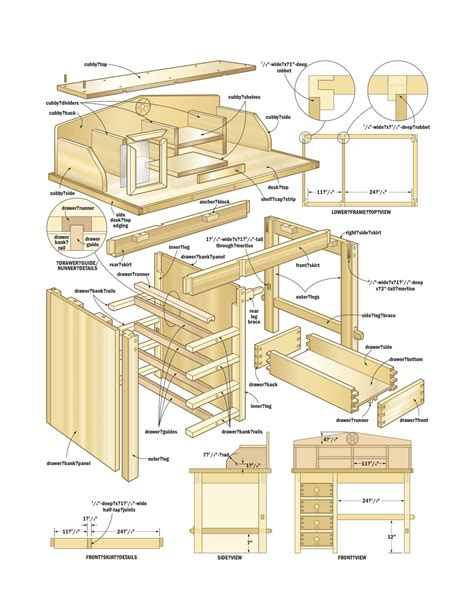 desk plans woodshop  woodworking