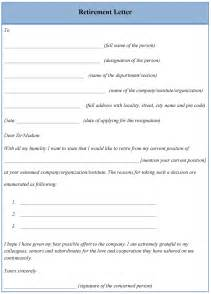retirement letter template gplusnick