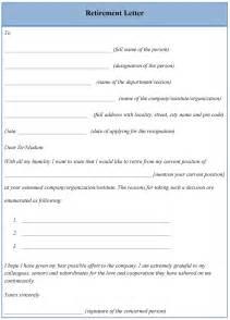 template retirement letter letter template for retirement format of retirement