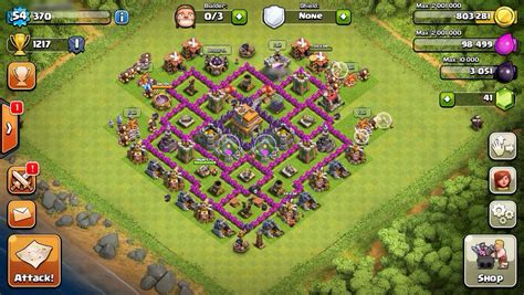 coc th7 base in hd image hd photos clash of clan townhall 7 new style for 2016 2017