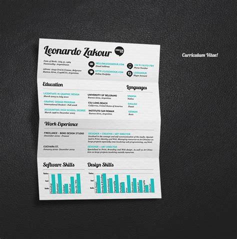 curriculum vitae design esempi curriculum design 35 esempi grafici con cui presentarvi
