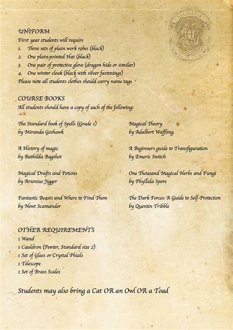 harry potter letter harry potter diy hogwarts acceptance letter requirement 1275