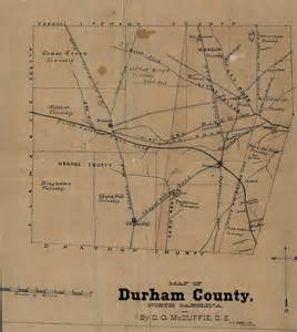 historic durham county and city maps