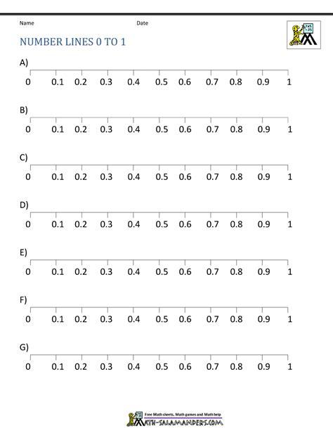 large printable decimal number line decimal number line
