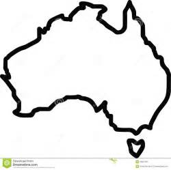 stock image open australia outline image 59021301
