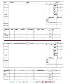 nurse brain sheet 12 hour day night rotation
