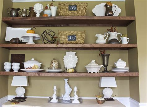 how to decorate a wall shelf dining room update french country not just a housewife