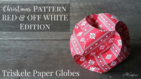 christmas pattern edition triskele paper globes hattifant