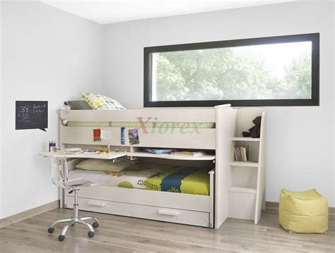 cabin bed cabin bed gami montana cabin bed w slide out bed in white